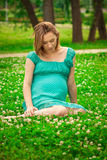 Young happy pregnant woman Royalty Free Stock Image