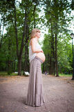Young happy pregnant woman Royalty Free Stock Photography