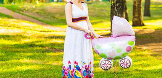 Young happy pregnant woman Stock Photos