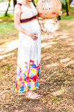 Young happy pregnant woman Royalty Free Stock Photo