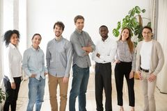 Young happy professional diverse people group or business team p
