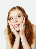 Young happy redhead girl Royalty Free Stock Photo