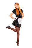 Young happy redhead maid Royalty Free Stock Photos