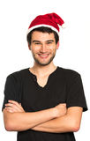 Young happy Santa Stock Photography