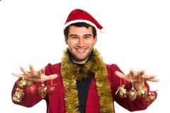 Young happy Santa royalty free stock image