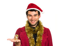 Young happy Santa Stock Images