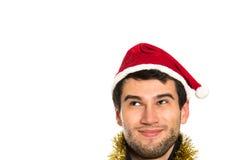 Young happy Santa stock photography