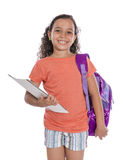 Young Happy School Girl Royalty Free Stock Images