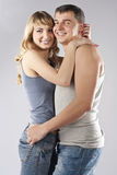 Young happy smiling attractive couple together Royalty Free Stock Photo