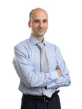 Young happy smiling business man Royalty Free Stock Image
