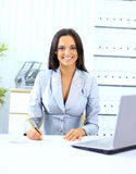 Young happy smiling businesswoman Royalty Free Stock Image