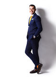 Young happy smiling cheerful business man Royalty Free Stock Images