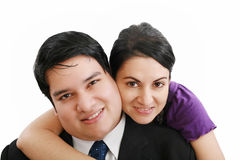 Young happy smiling couple Stock Images