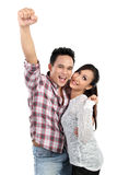 Young happy smiling couple Royalty Free Stock Photos