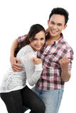 Young happy smiling couple Stock Photo