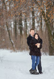 Young  happy smiling couple in love Royalty Free Stock Images