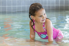 Young happy smiling girl in water pool Stock Photography