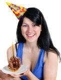 Young happy smiling  in party hat Stock Photo
