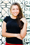 Young happy smiling woman portrait Stock Photography