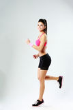 Young happy sport woman running Royalty Free Stock Photo