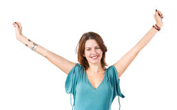 Young happy stretching woman Royalty Free Stock Photography