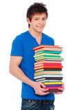 Young happy student with books. Stock Image