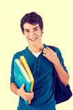 Young happy student carrying books royalty free stock images