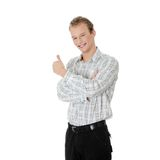 Young happy student man Stock Image