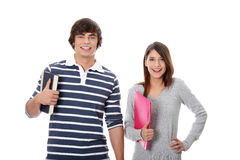 Young happy students. Royalty Free Stock Photography