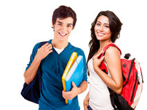 Young happy students stock images