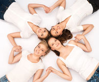 Young and happy teenagers hanging out together Royalty Free Stock Photography