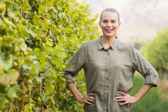 Young happy vintner smiling at camera Stock Photography