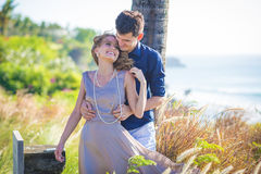 Young Happy Wedding Couple Royalty Free Stock Images
