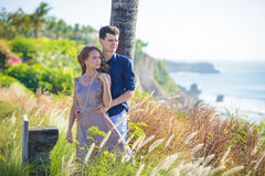 Young Happy Wedding Couple Royalty Free Stock Photos
