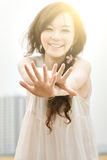 Young happy woman Stock Photography