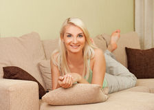 Young happy woman Stock Images