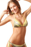 Young happy woman in bikini Stock Photos