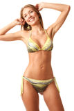 Young happy woman in bikini Royalty Free Stock Image