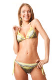 Young happy woman in bikini Royalty Free Stock Photo