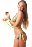 Young happy woman in bikini Royalty Free Stock Photos