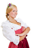 Young happy woman in a dirndl Stock Image