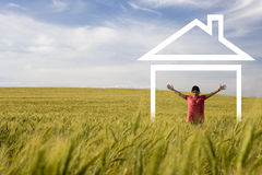 Free Young Happy Woman Enjoying New House Stock Photos - 5169913