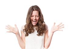 Young happy woman Royalty Free Stock Images