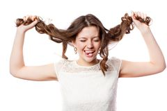 Young happy woman Royalty Free Stock Photos