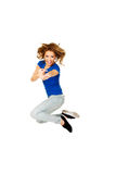 Young happy woman jumping. Stock Photography