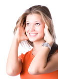 Young happy woman portrait Royalty Free Stock Photos