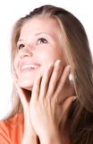 Young happy woman portrait Stock Images
