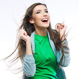 Young happy woman portrait . Royalty Free Stock Photos