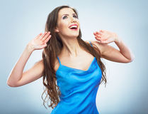Young happy woman  portrait. Royalty Free Stock Photos