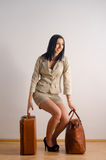 Young happy woman ready for travel Stock Image